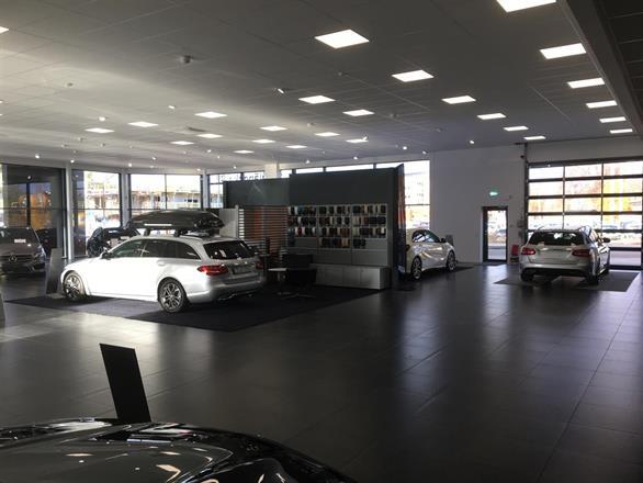 Ombyggnad  Mercedeshallen åt Småländska bil  2016